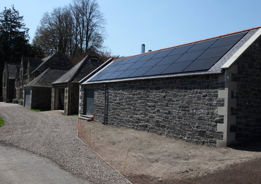 An inset Solar PV array, and a complete build with project management