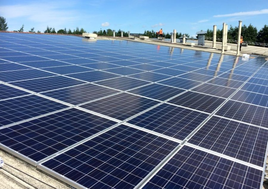 A commercial 150KW solar PV array - case study