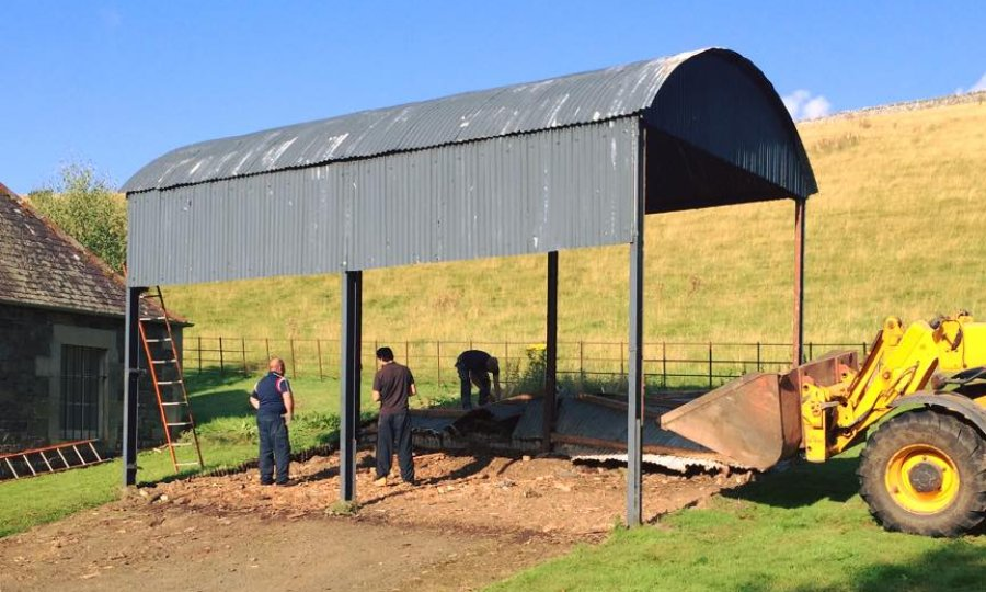 removal of old building to create a biomass building  in Scottish borders