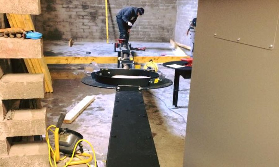 dual auger, sweeping floor being installed for biomass in scottish borders