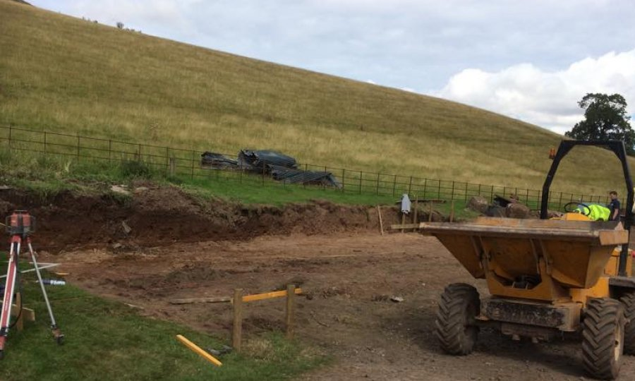 biomass building being built in Scottish borders