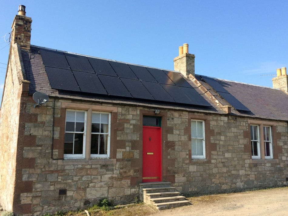 Solar PV with a NIBE Air Source Heat Pump to an older property