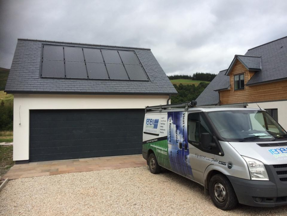 Solar PV panels inset into a roof