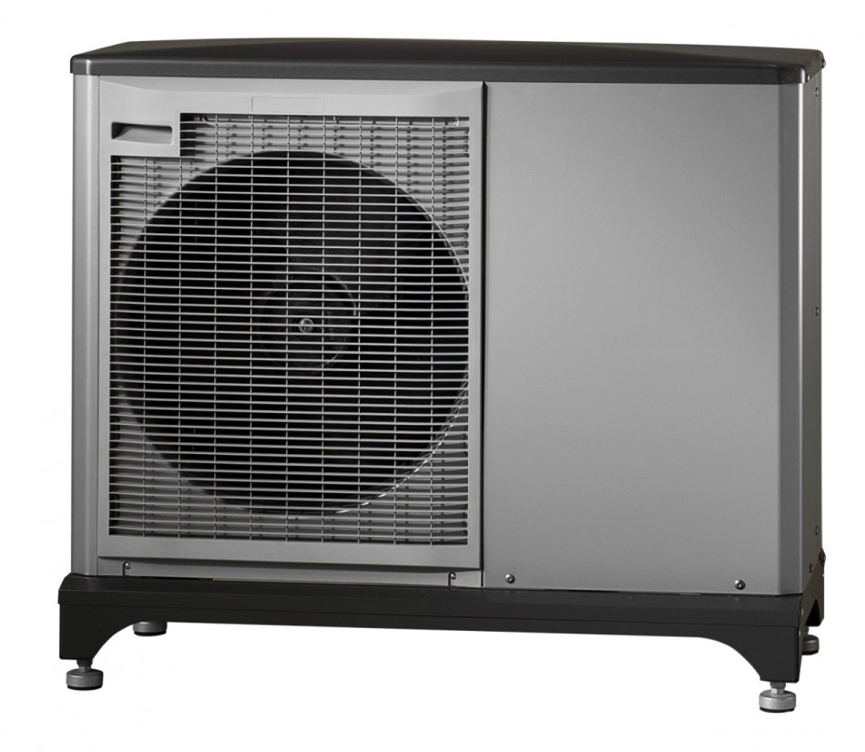 The external (NIBE) air Source heat pump unit